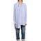 Asymmetrical cotton & linen shirt
