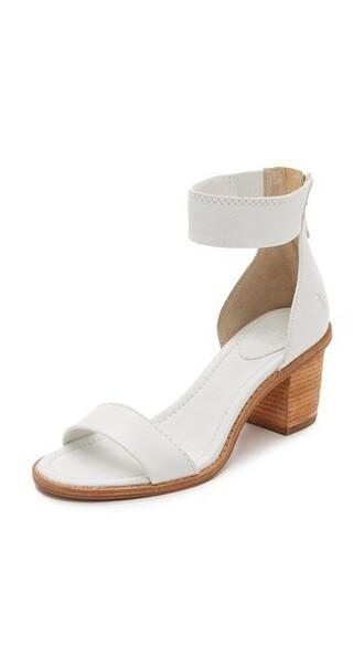back zip sandals white shoes