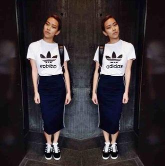 skirt blue skirt white stripe