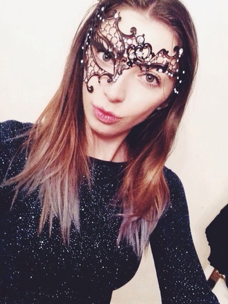 hair accessories sparkly masquerade ball mask