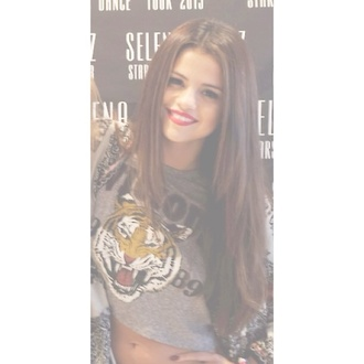 sweater selena gomez selena gomez tiger cute