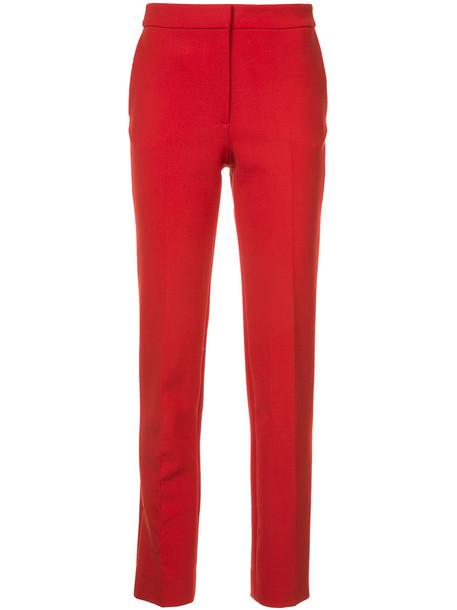 oscar de la renta women spandex wool red pants