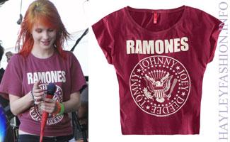 Purple Ramones T-Shirt - Hayley Williams Fashion