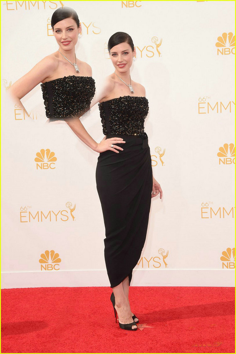 Aliexpress.com : Buy Latest Design Jessica Pare Emmys 2014 Red Carpet Dress Tea Length Crystal Beaded Bodice Black Slim Celebrity Dresses from Reliable dress obama suppliers on 27 Dress