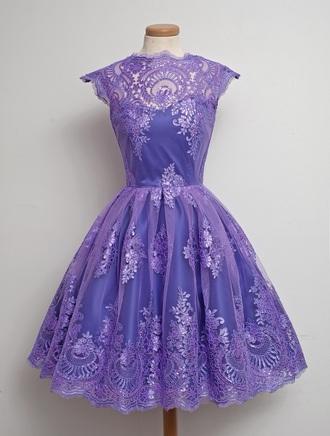 dress lavender prom dress short dress lace lace dress