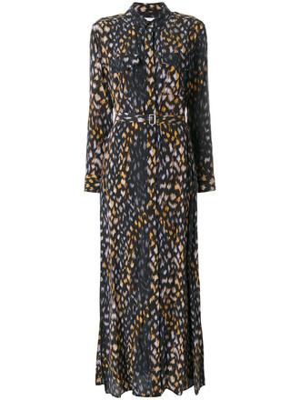 dress shirt dress maxi women black silk