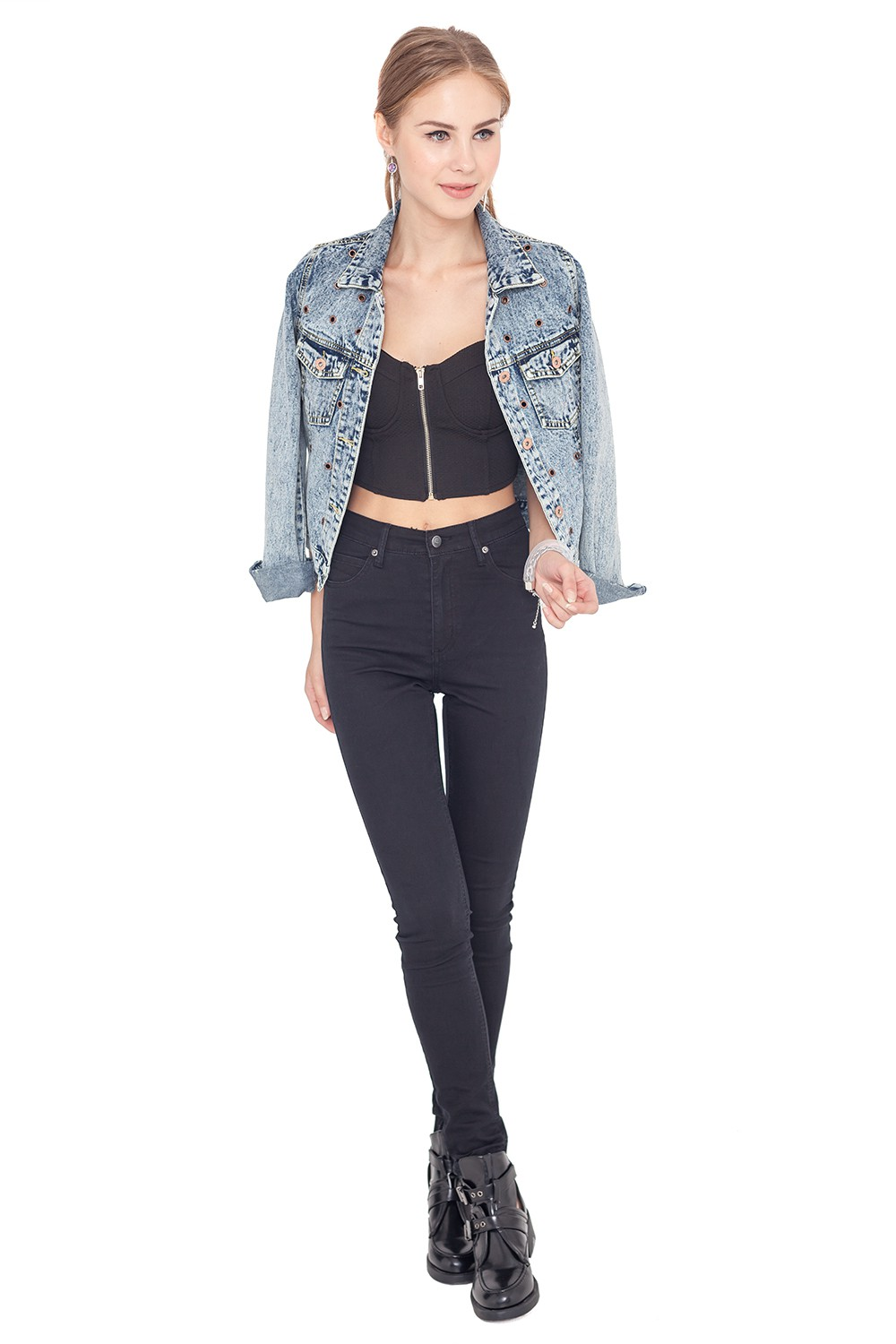 Jeans second skin very stretch black by cheap monday