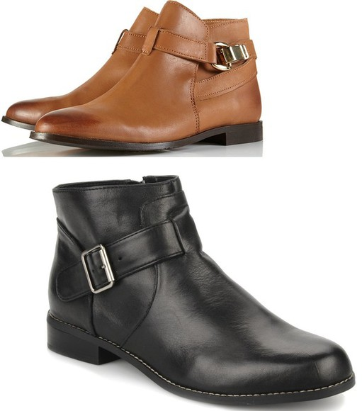 shoes boots leather low boots