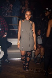 dress,Angela Simmons,zip,zipper dress,vintage,edgy,chic muse