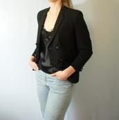 jacket,wool,wool coat,black jacket,vintage,etsy,manor,black blazer,blazer,double breasted