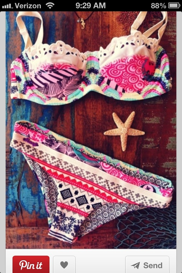 swimwear swimwear aztec bikini coulorful beautiful summer swimwear tribal patten bohemian indie boho pattern bikini pinterest