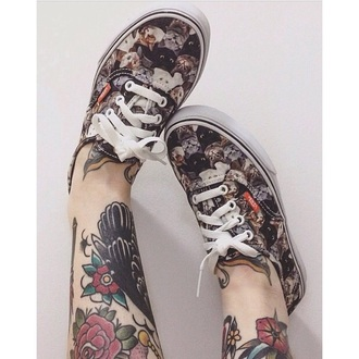 shoes cats printed vans tattoo