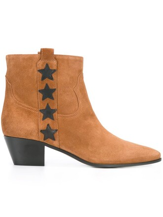 rock boots ankle boots brown shoes