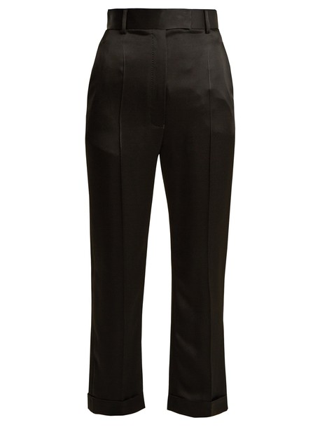 Haider Ackermann high satin black pants