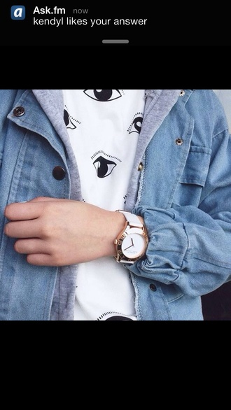 white eye grey black jacket jewels t-shirt eyes grunge indie