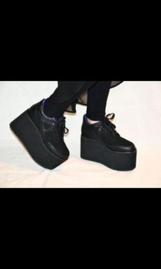 shoes grunge platform shoes dark
