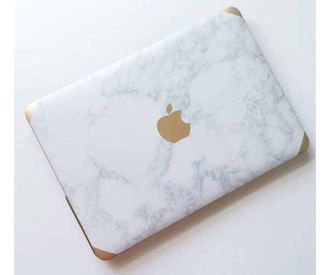 home accessory computer case marble holiday gift computer accessory phone cover laptop white gold apple