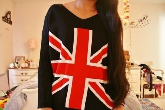 sweater uk united kingdom union jack cute jumper lovely british flag knitted england