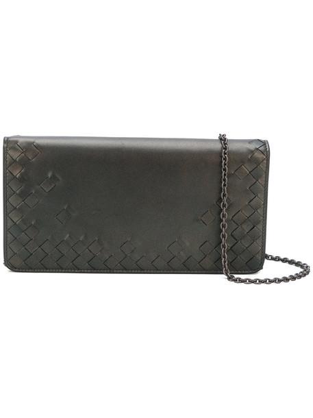 Bottega Veneta women clutch grey metallic bag
