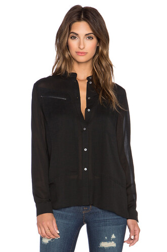 shirt button up shirt black