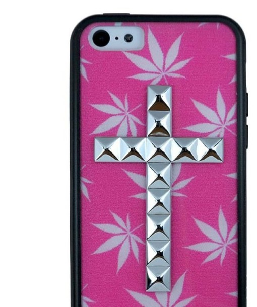 iphone weed marijuana cross pink white iphone 5 case iphone 5 case iphone case bag