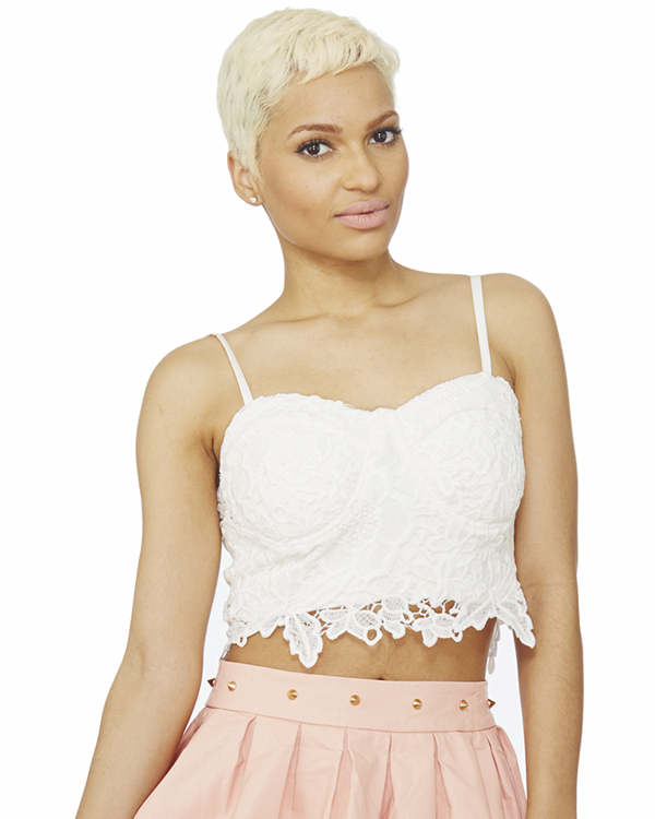 SWEET RENDEZVOUS Lace Bustier in Ivory – FLYJANE