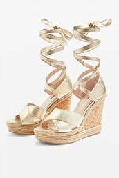 classic,wedges,gold,shoes