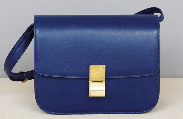 celine electric blue box bag