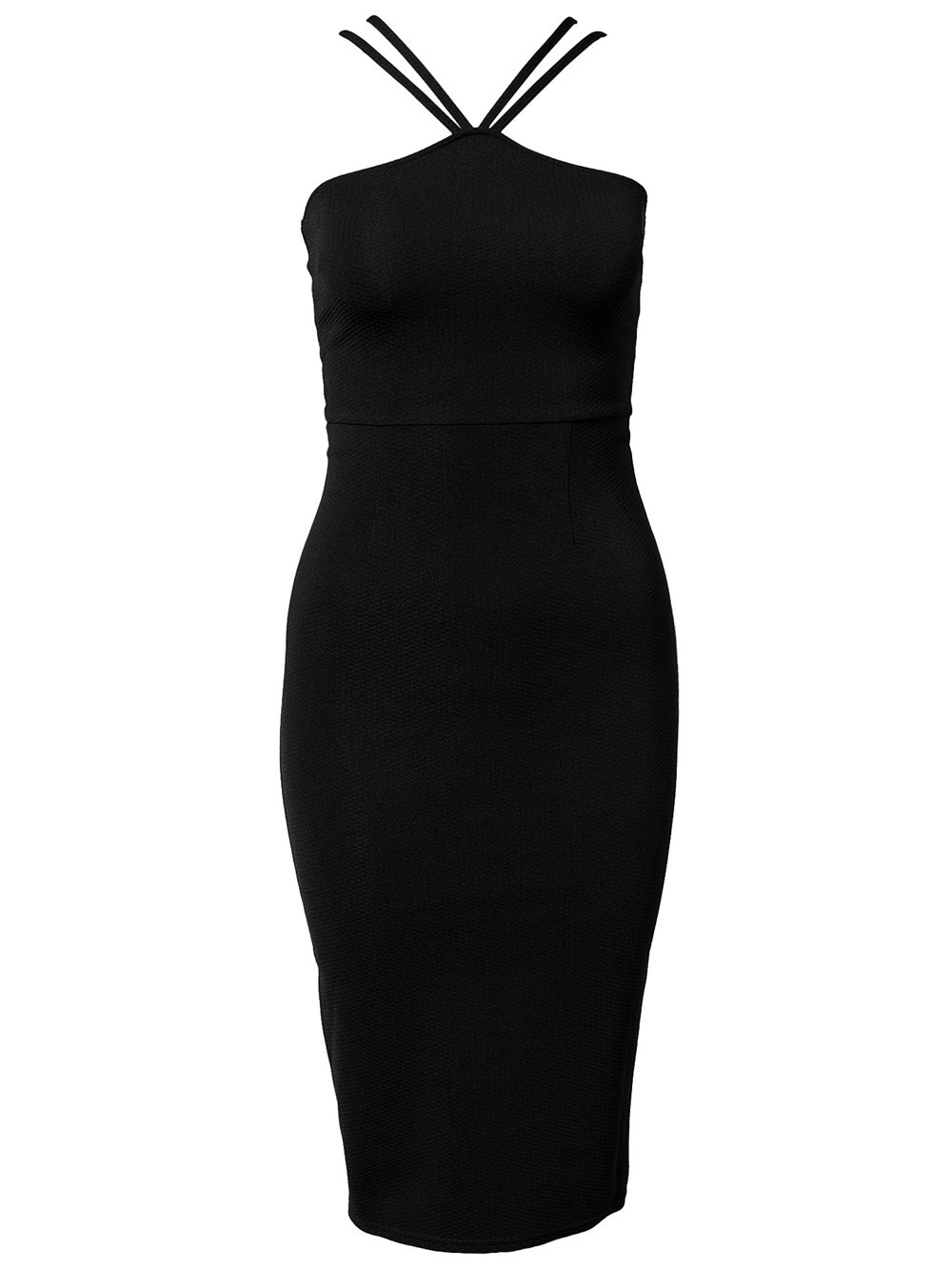 2014 New Womens Celeb Ladies Bodycon Strapless Halter Slimming Summer Casual Party Long Midi Pencil Dress 9116 | Amazing Shoes UK