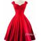 Simple red sweetheart short prom dress, homecoming dress - 24prom