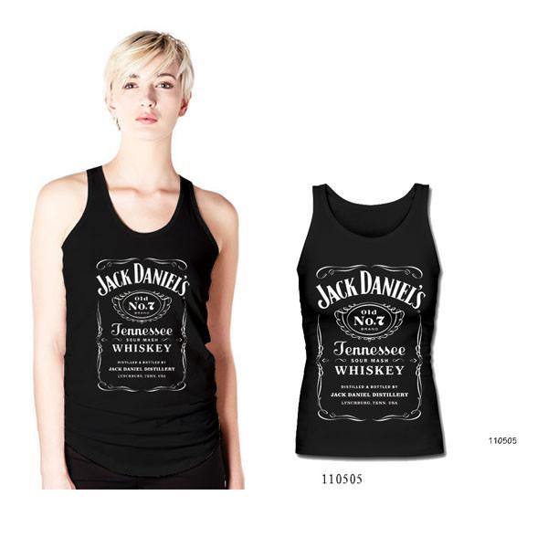 Новый дизайн Jack Daniels топы женщин жилет Топы Мода Повседневная рубашка Одежда Бесплатная доставка, принадлежащий категории Майки и относящийся к Одежда и аксессуары на сайте AliExpress.com