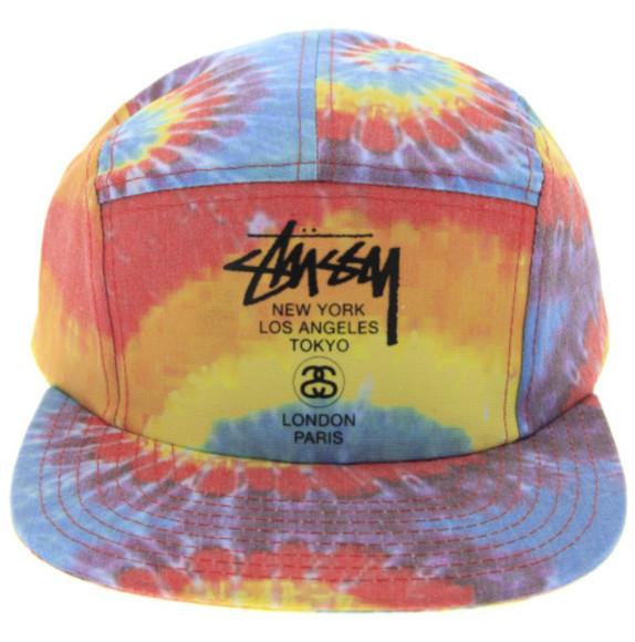 tie dye hippie rainbow indie gunge brand stussy