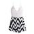 Halter Cross Stitching Lace Dress