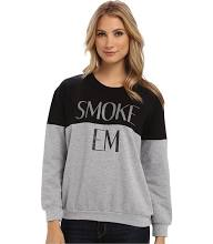 StyleStalker Smoke Em Sweater Women's Long Sleeve Pullover Grey