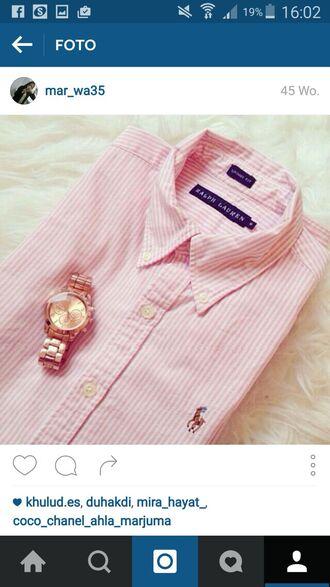 blouse ralph lauren ralph lauren femme ralph lauren polo pink gold clock