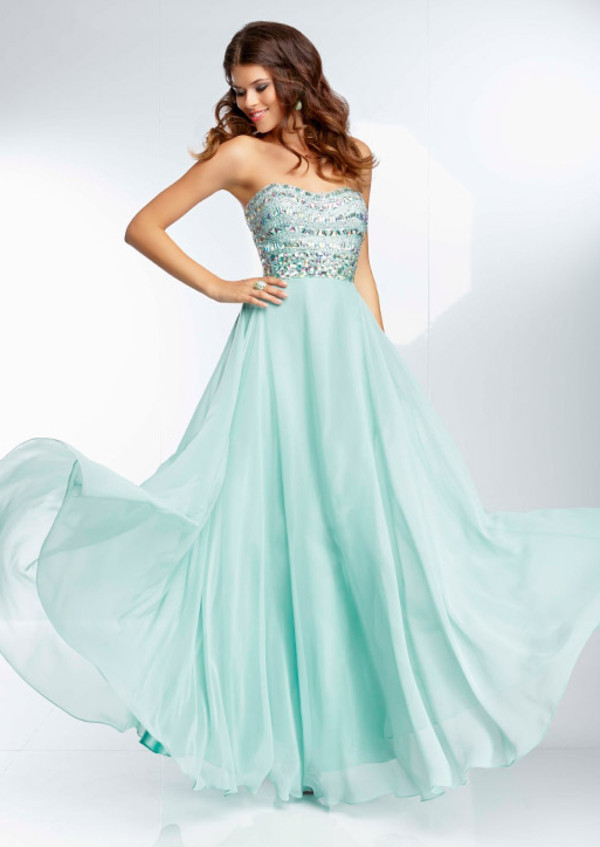 dress blue dress long prom dress