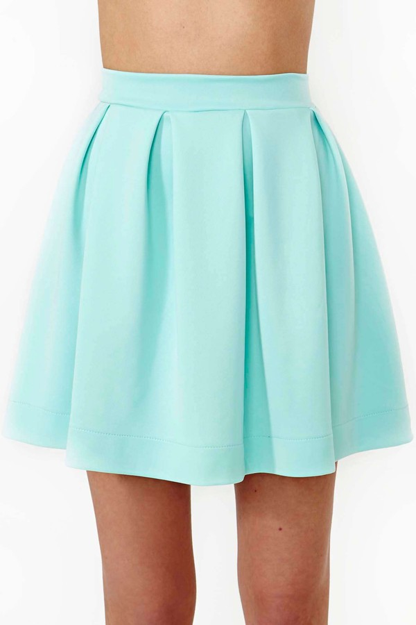 skirt skater skirt scuba skter skirt mint skirt turquise girly bottoms