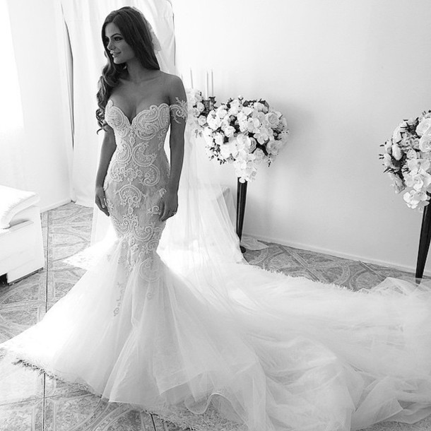 dress, lace dress, made to measure, wedding dress steven khalil ...