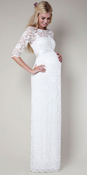 lace dress wedding dress maternity dress half sleeve dress