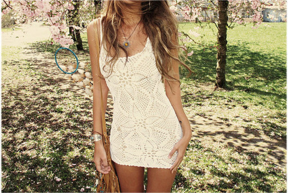 dress boho crochet white dress cream dress hippie boho style hippy hippie boho gypsy gypsy white pattern short dress bohemian