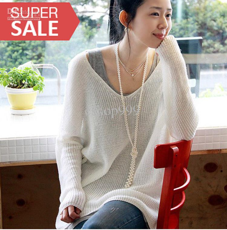 Wholesale hollow bat sweater sweaters long sleeve in the spring and autumn sweater, free shipping, $26.16