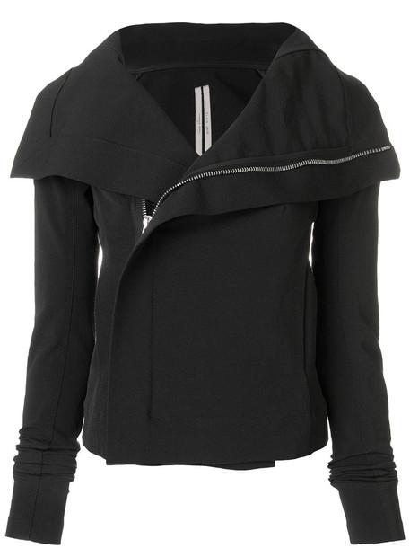 Rick Owens jacket women spandex cotton black silk