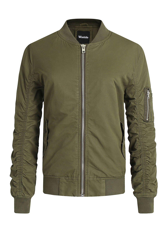 13330ec846a Wantdo Men's Classic Quilted Jacket Short Bomber Jacket Coat at Amazon  Men's Clothing store: