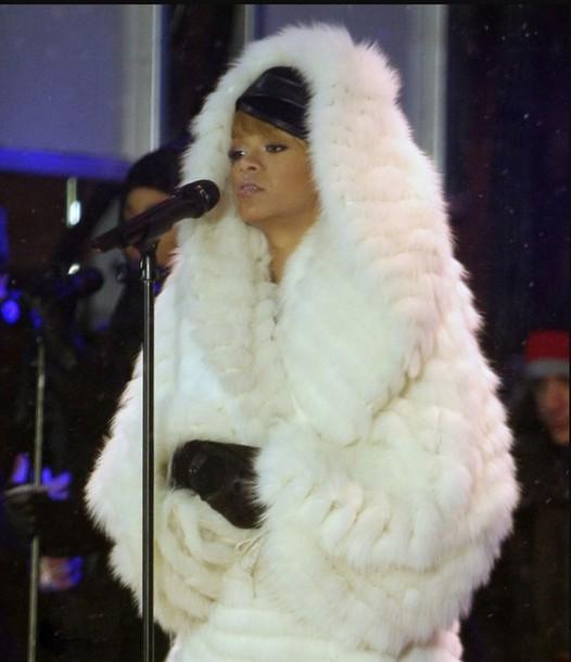 coat rihanna coat fur
