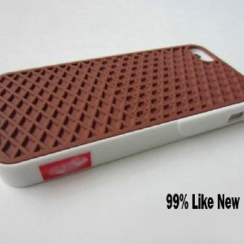 quality design aaf6e 91340 White-brown Silicone Waffle Shoe Sole Case Cover for Apple Iphone 5 5s Vans  Style