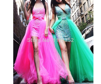 Aliexpress.com : Buy Custom Made Free Shipping Charming Elegant High Neck Chiffon Evening Dress Floor Length A line Bridal Gowns 2014 New Arrival from Reliable beaded mini dress suppliers on readdress