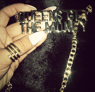 jewels necklace chain queens money gold chain girls