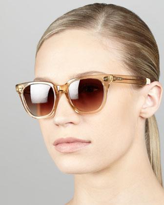 TOMS Eyewear | Enamel Sunglasses, Champagne/Tortoise - CUSP