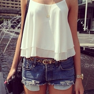 tank top blouse white tank top party outfits