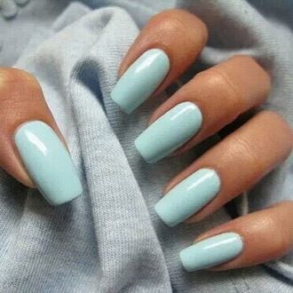 nail polish solid color style sky blue